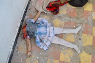 A baby girl beheaded by ISIS for the crime of being Christian.