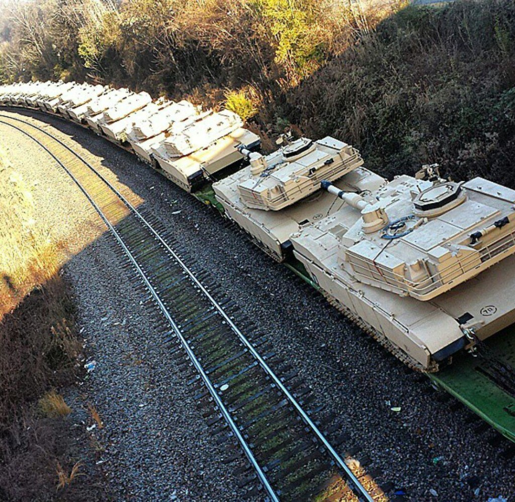 Massive armor movements inside country ahead of Jade Helm 15 operation.